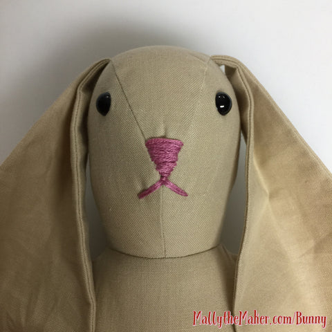 make Ms Bunny doll | rabbit doll sewing pattern