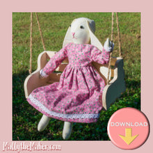 Load image into Gallery viewer, Bunny doll beginner sewing pattern