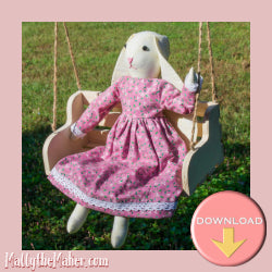 Bunny doll beginner sewing pattern