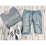 Blonde Sweatshirt-Sweatshirt-Air Halo Fashions