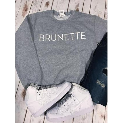 Brunette Sweatshirt-Sweatshirt-Air Halo Fashions