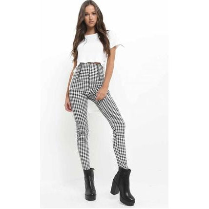 Checked Trouser-Bottom-Air Halo Fashions