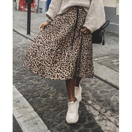 Cheetah Midi-Skirt-Skirt-Air Halo Fashions