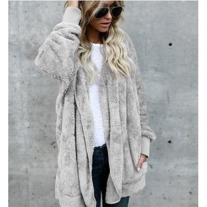 Faux Fur Hooded Coat-Coat-Air Halo Fashions