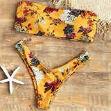 Floral Bandeau Bikini-Swimwear-Air Halo Fashions
