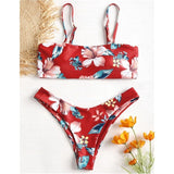 Floral Convertable Bikini-Swimwear-Air Halo Fashions