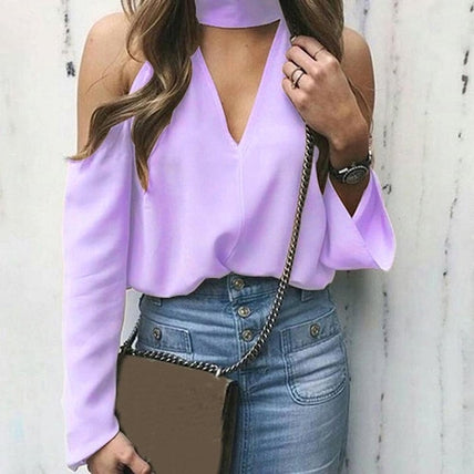 Open-Shoulder Blouse-Top-Air Halo Fashions