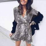 Python Long Sleeve Mini Dress-Dress-Air Halo Fashions