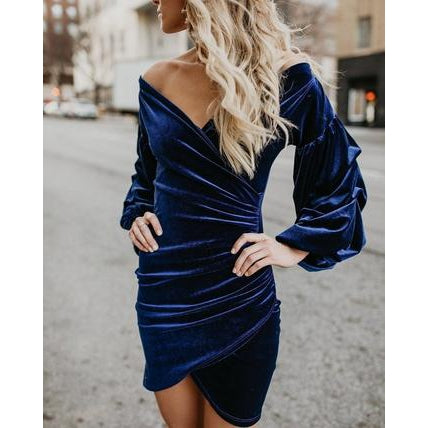 Velvet Party Dress-Dress-Air Halo Fashions