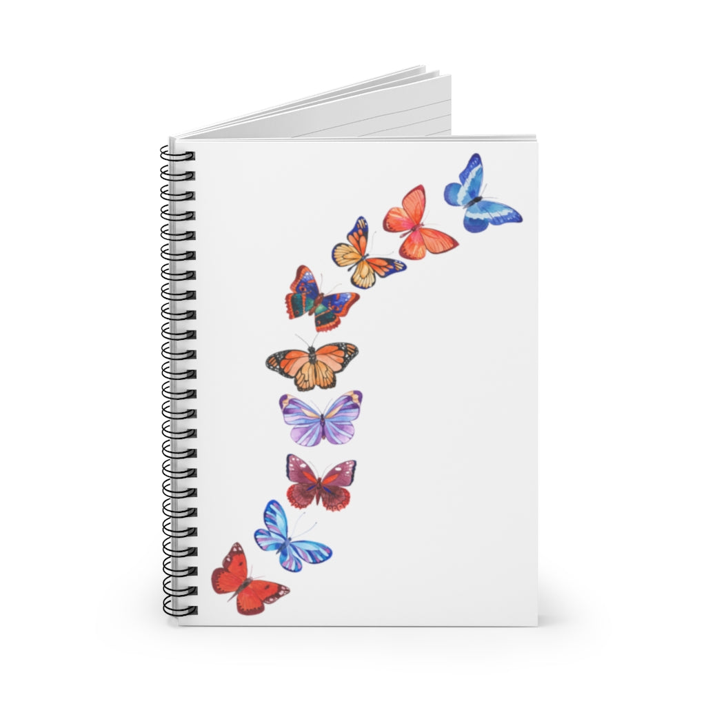 Butterflies in Flight Spiral Journal - Ruled Line