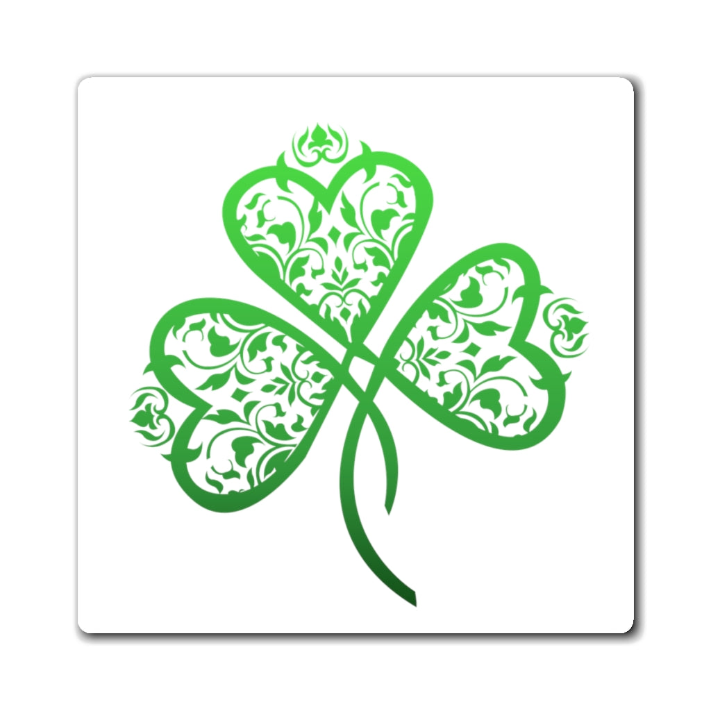 St. Patrick's Day Filigree Shamrock Heart Magnet (3 Sizes Available)
