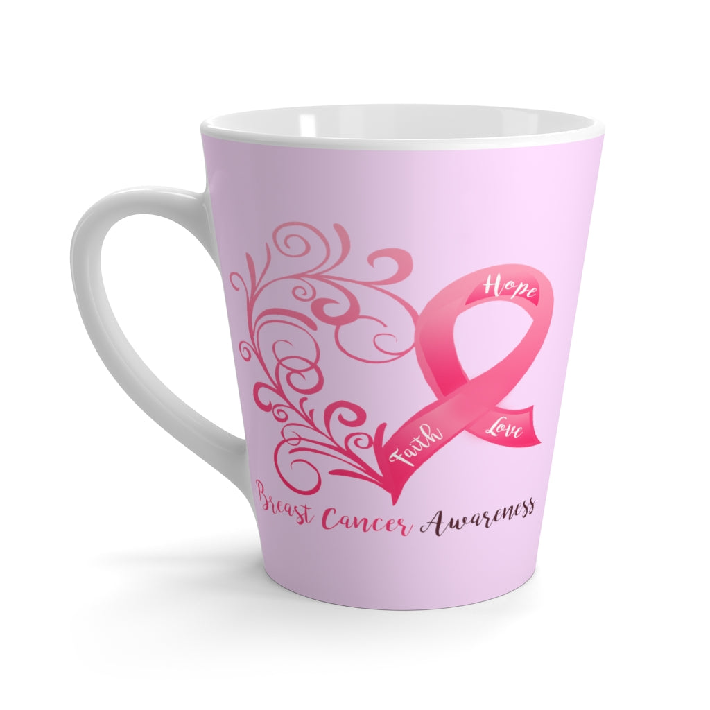 Breast Cancer Awareness Pink Latte Mug (12 oz.)