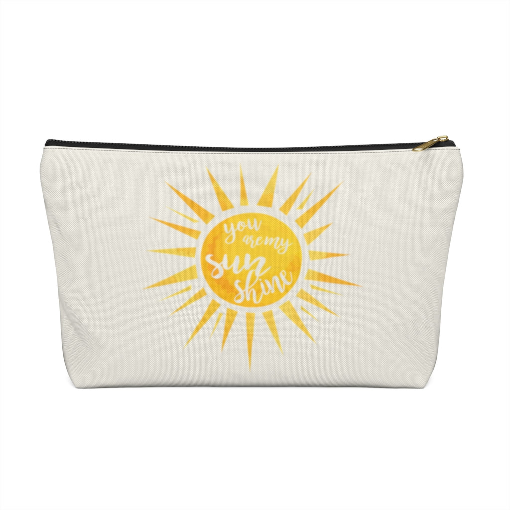 "You Are My Sunshine Large ""Natural"" T-Bottom Accessory Pouch (Dual-Sided Design)"