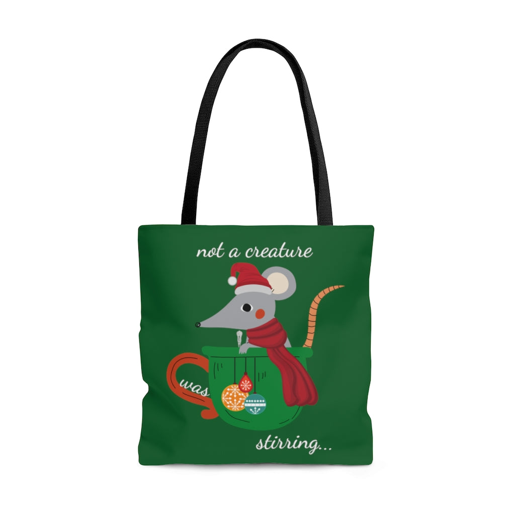 not a creature was stirring... GreenTote Bag (Dual-Sided Design)