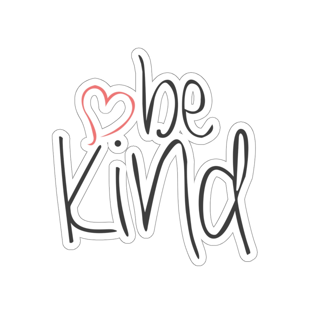 be kind Heart Car Sticker (6X6)