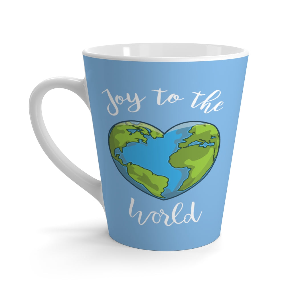 Joy to the World Light Blue Latte Mug (12 oz.)