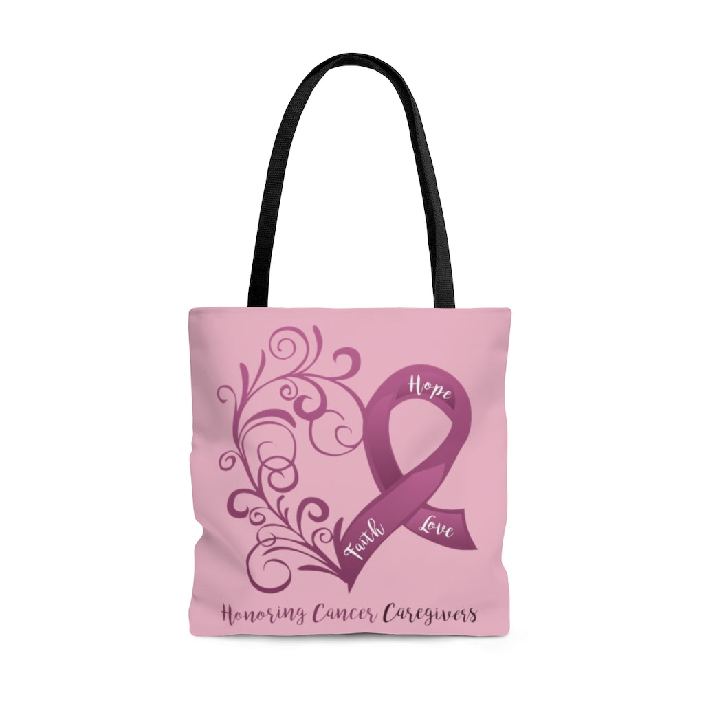 Honoring Cancer Caregivers Large Tote Bag (Dual-Sided Design)