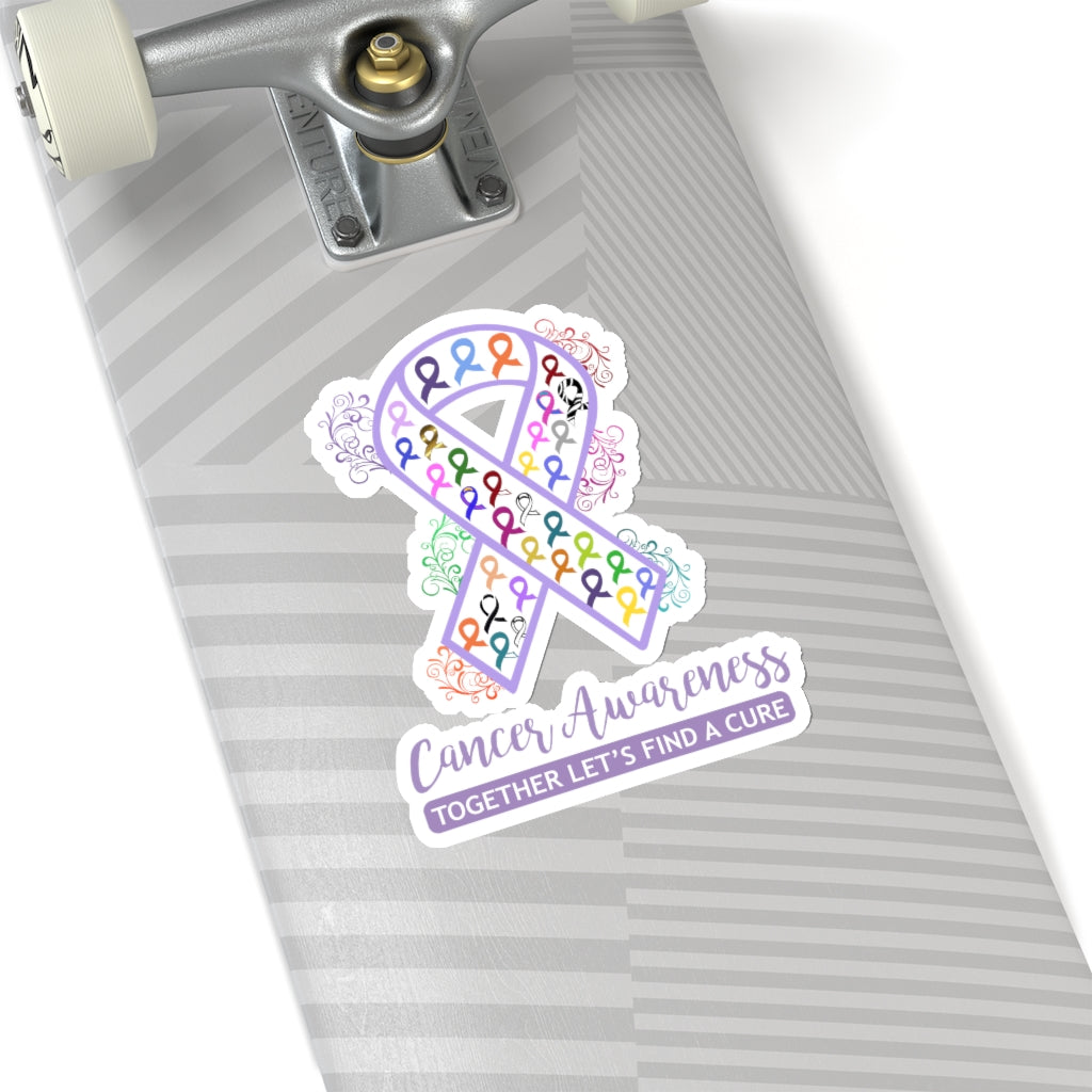 All Cancer Awareness Ribbon Car Sticker (6 X 6)