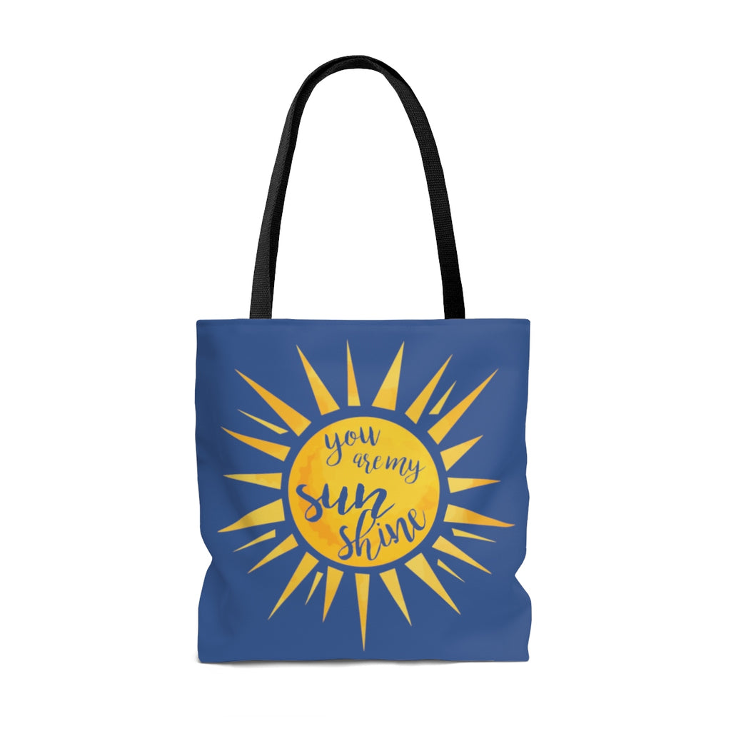 You Are My Sunshine Large Tote Bag (Dual-Sided Design)