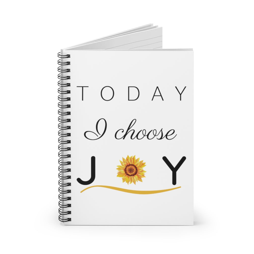 """Today I Choose Joy"" Spiral Journal - Ruled Line"