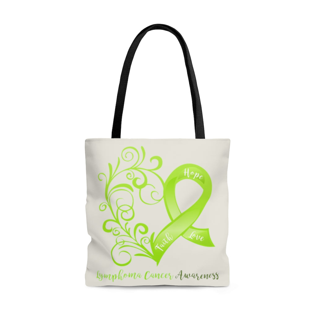 "Lymphoma Awareness Large ""Natural"" Tote Bag (Dual-Sided Design)"