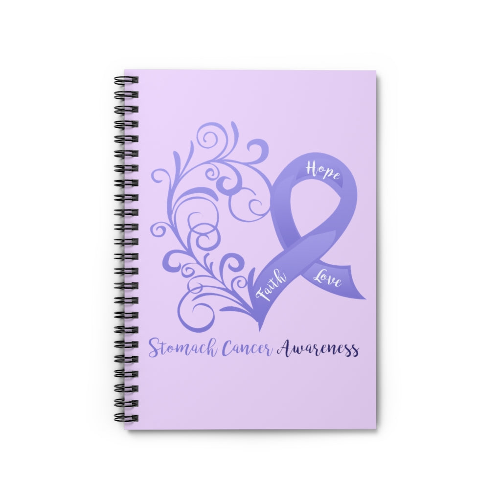 Stomach Cancer Awareness Lavender Spiral Journal - Ruled Line