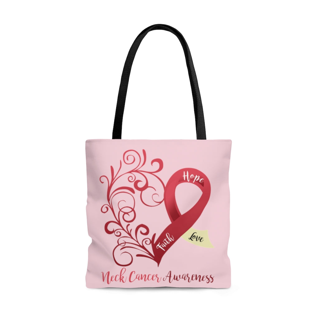 Neck Cancer Awareness Large Tote Bag (Dual Sided Design)