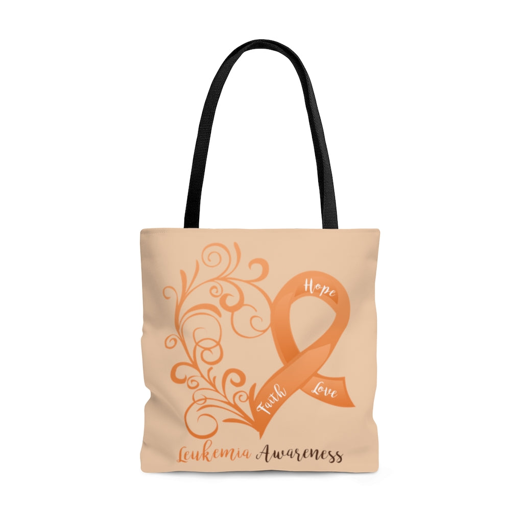 Leukemia Awareness Large Tote Bag (Dual-Sided Design)