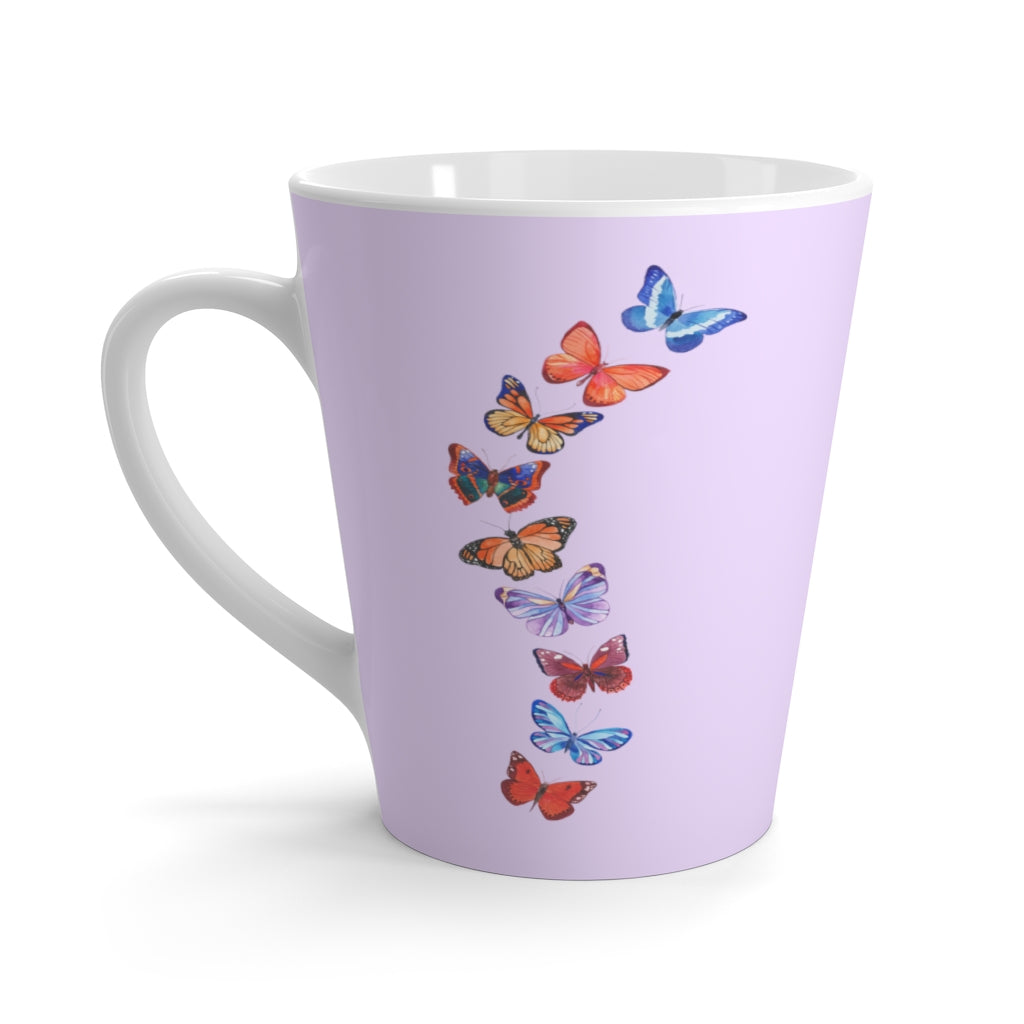 Butterflies in Flight Lavender Latte Mug (12 oz.)