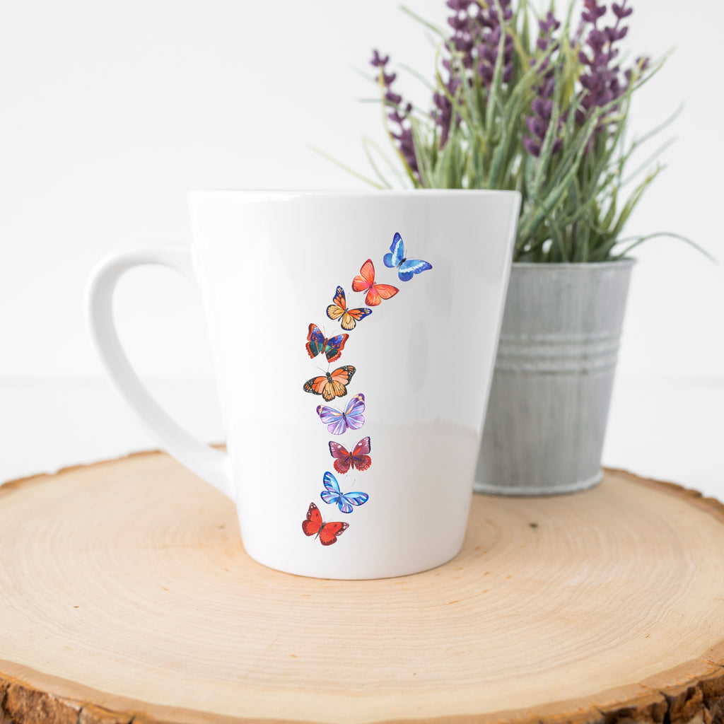 Butterflies in Flight Latte Mug (12 oz.)