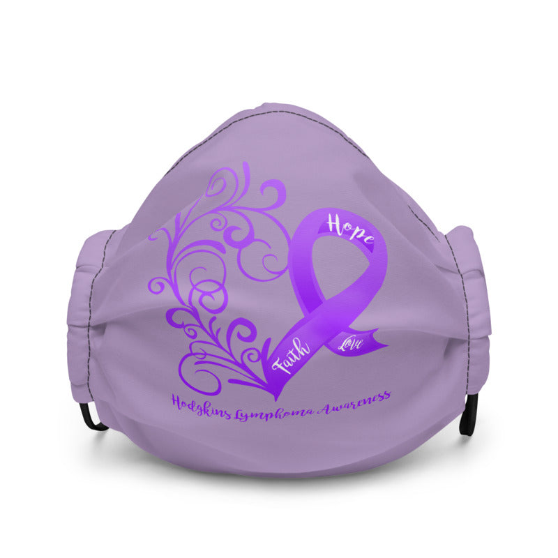 Hodgkins Lymphoma Awareness Non-Medical Premium Face Mask (Light Purple)(NON-RETURNABLE)