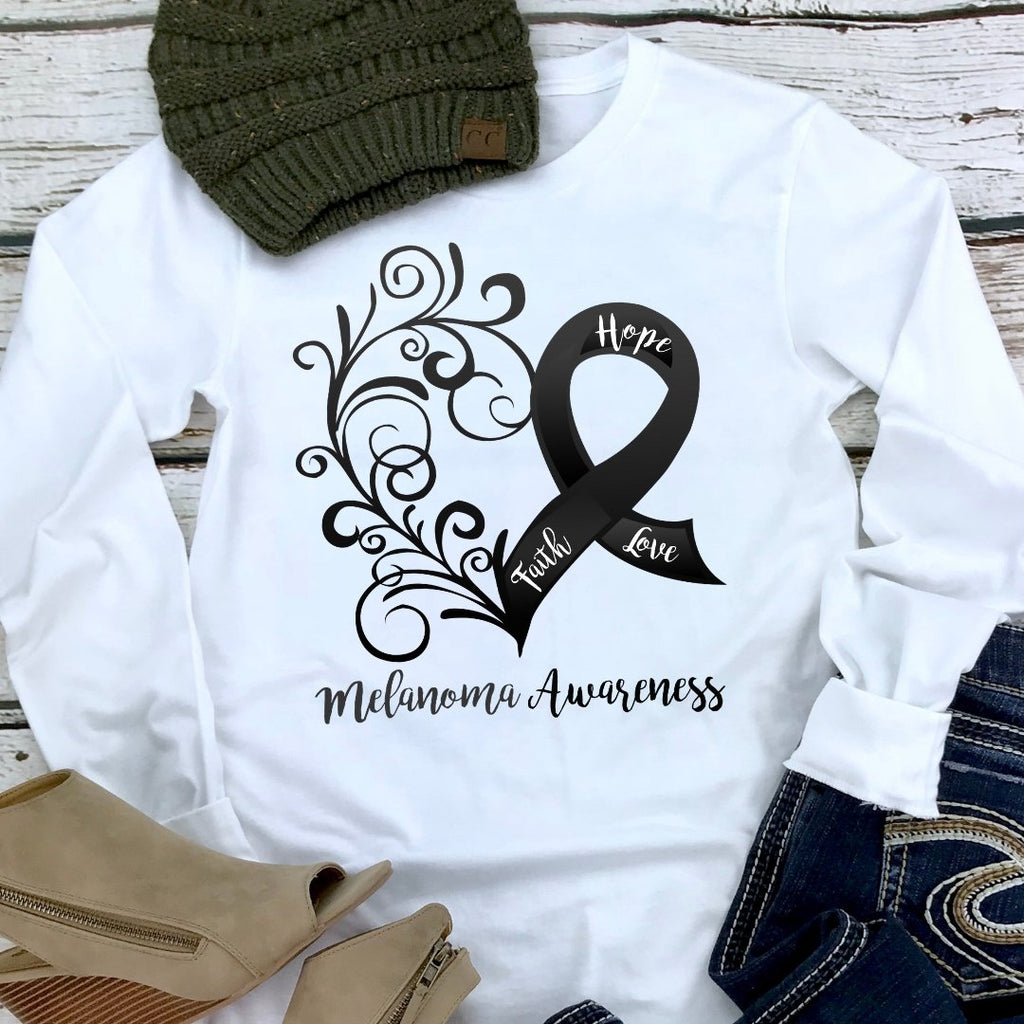 Melanoma Awareness Long Sleeve Tee (Multiple Colors Available)