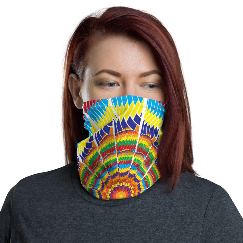 Multicolor Prism Design Neck Gaiter / Face Covering - (Quick Ship) - NON-RETURNABLE