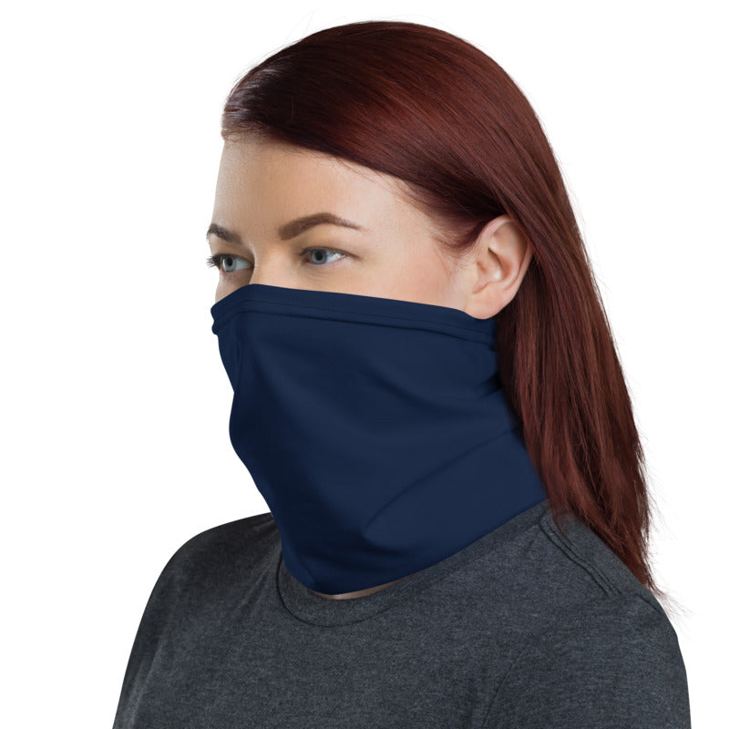 Solid Navy Neck Gaiter / Face Covering - (Quick Ship) - NON-RETURNABLE