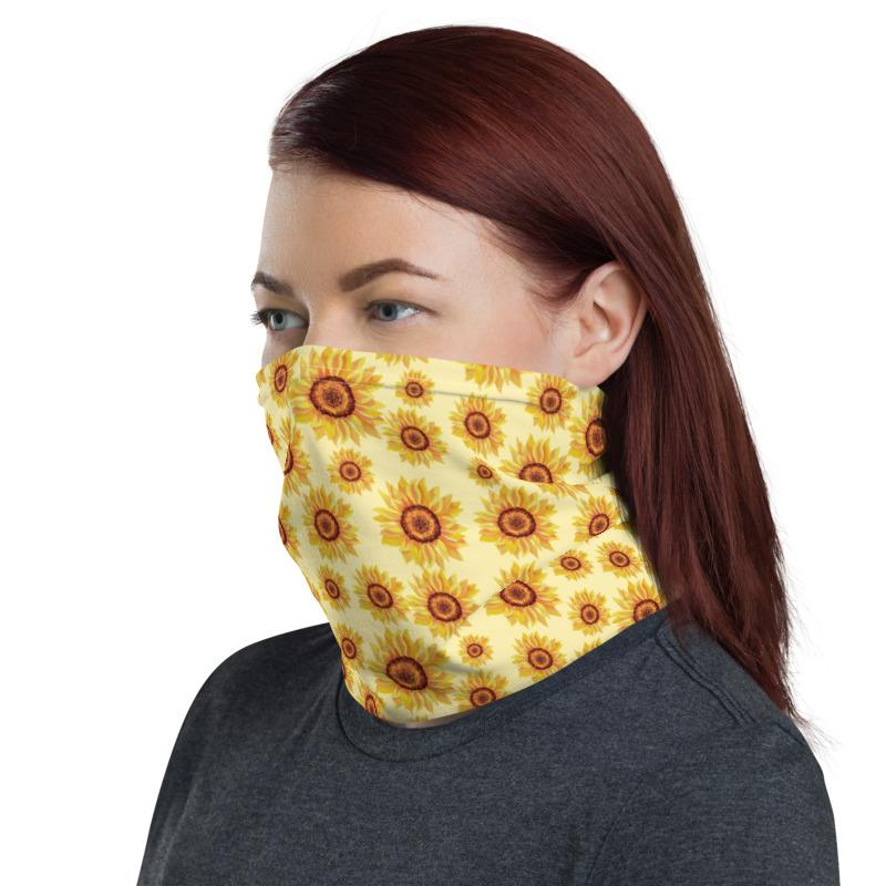 Sunflowers Neck Gaiter / Face Covering - (Quick Ship) - NON-RETURNABLE