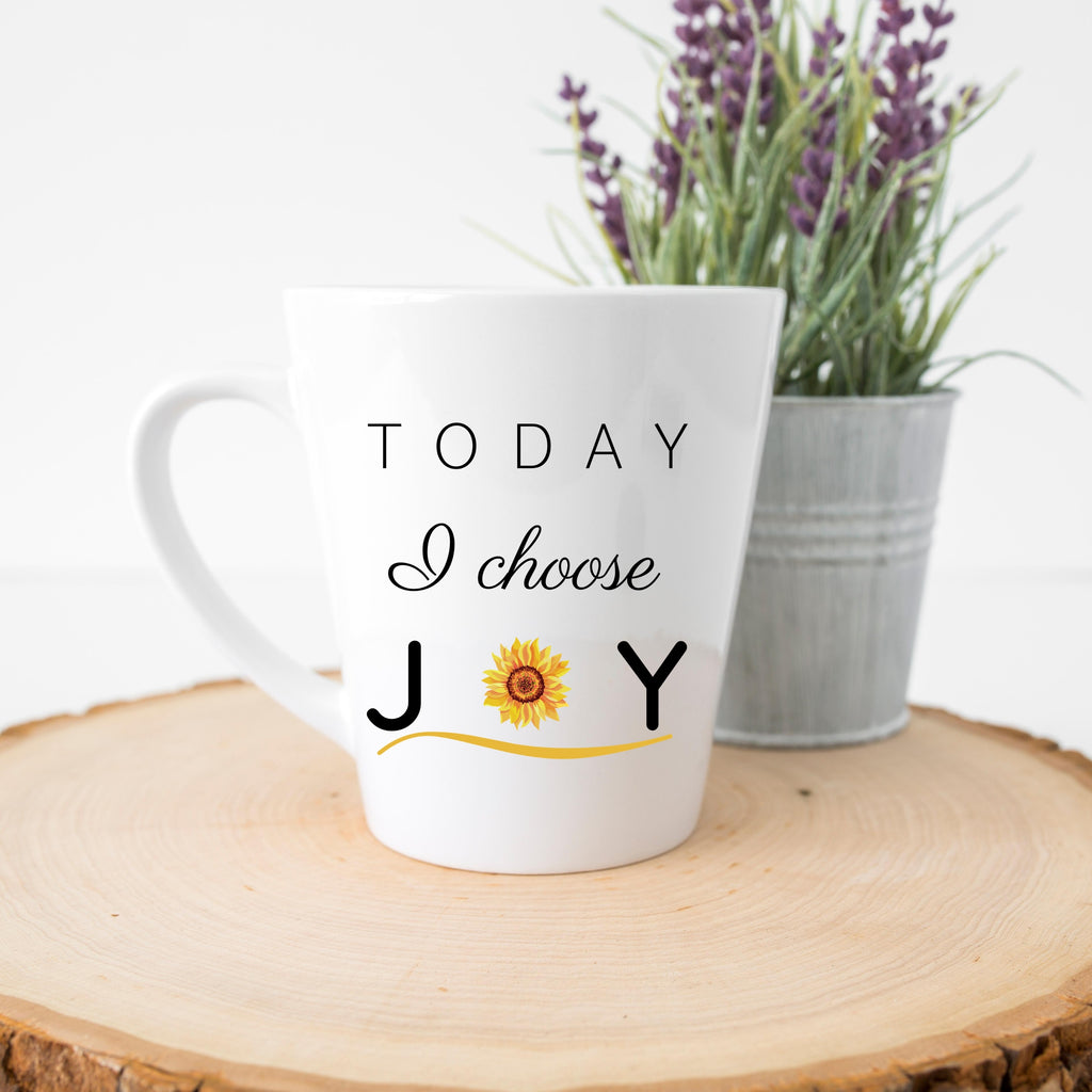 """Today I Choose Joy"" Latte Mug (12 oz.)"