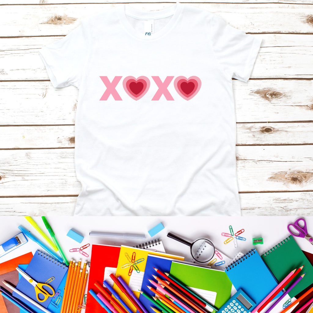 Valentine's XOXO Heart Youth Short Sleeve T-Shirt