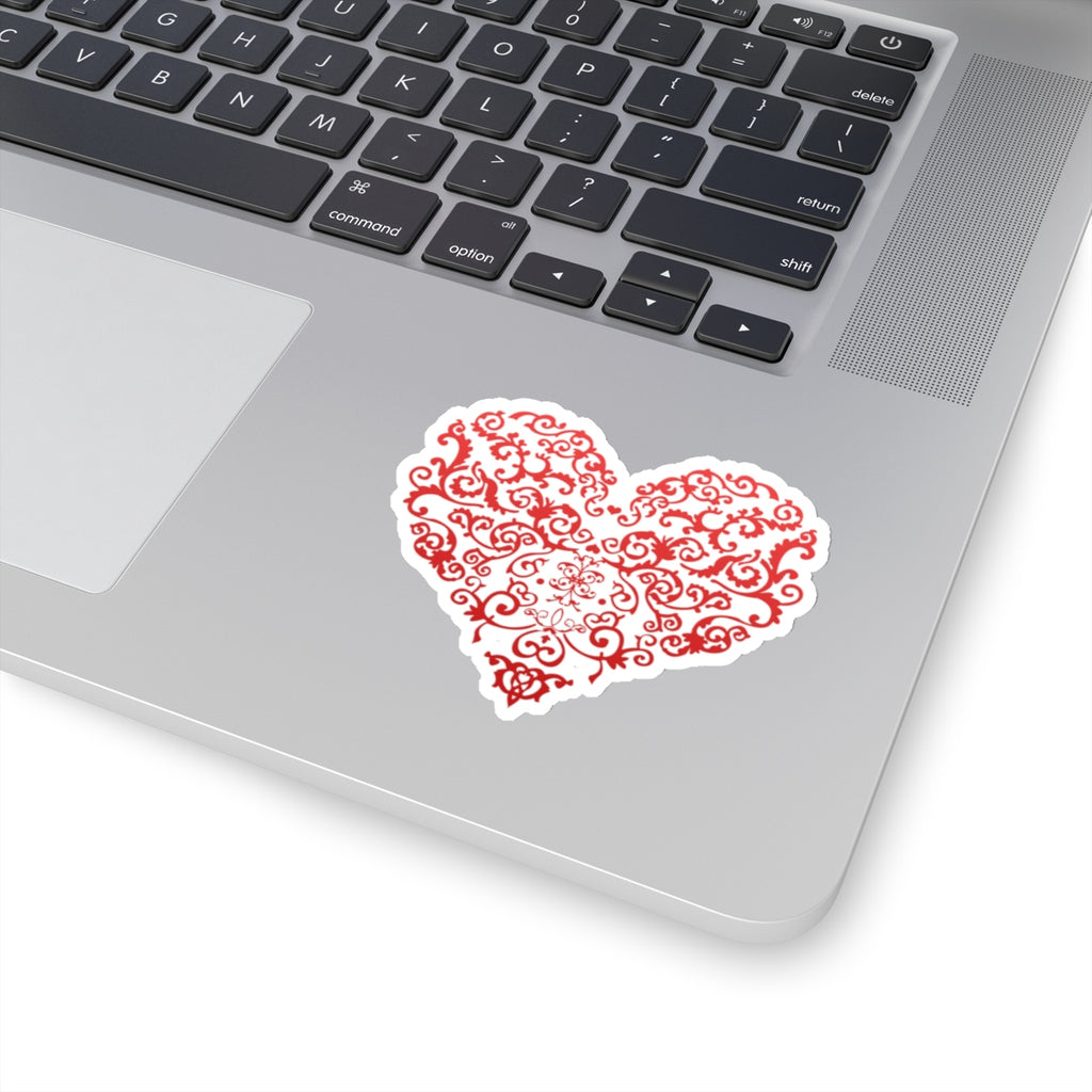 Filigree Heart Sticker (3X3)
