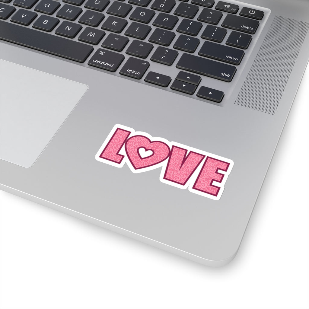 Valentines Love Heart Sticker (3X3)