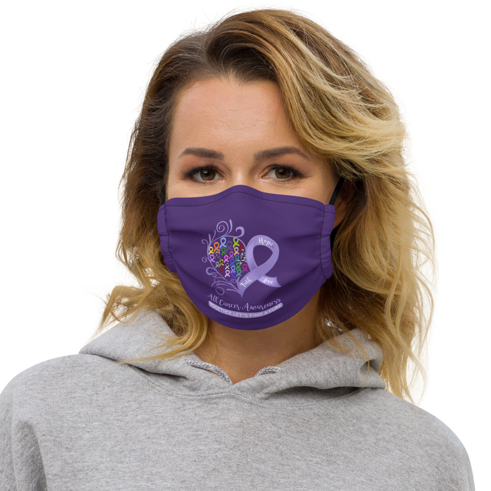 All Cancer Awareness Heart Non-Medical Premium Face Mask