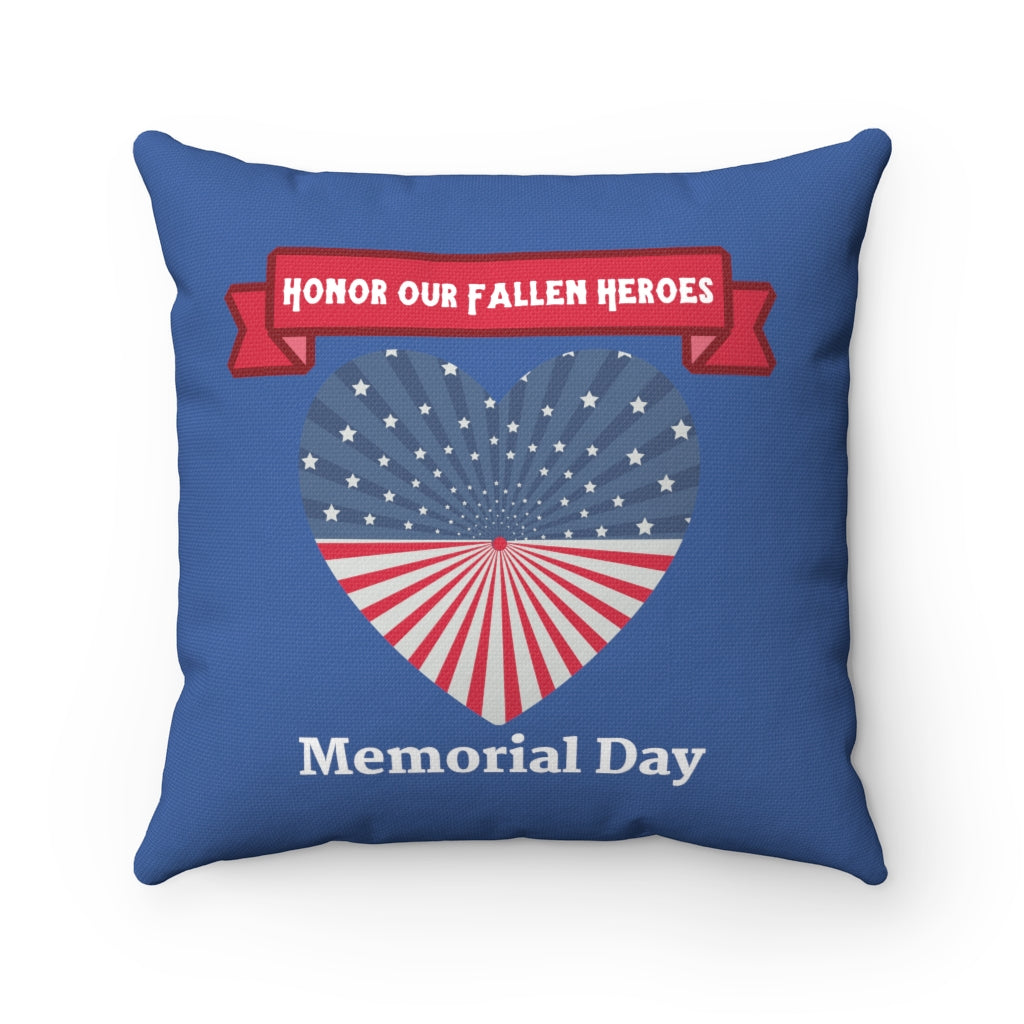"Memorial Day ""Blue"" Square Pillow (20 X 20)"