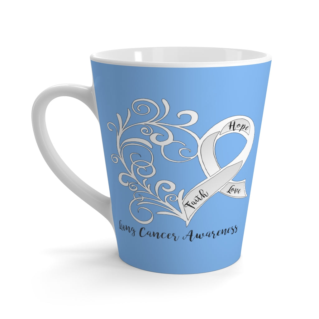 "Lung Cancer Awareness ""Light Blue"" Latte Mug (12 oz.)"