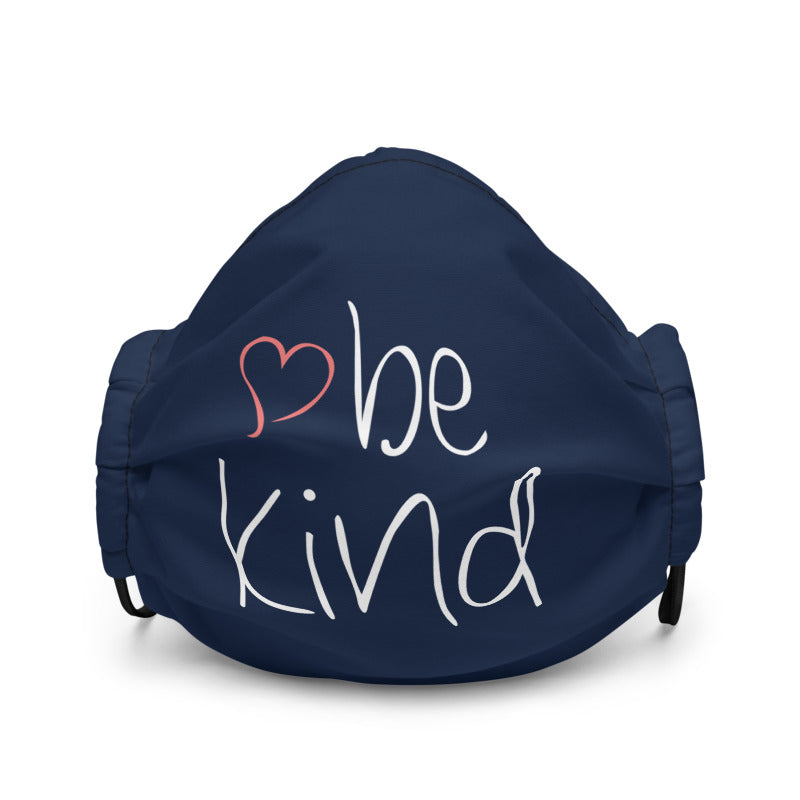 be kind Heart Non-Medical Premium Face Mask (Navy) (NON-RETURNABLE)