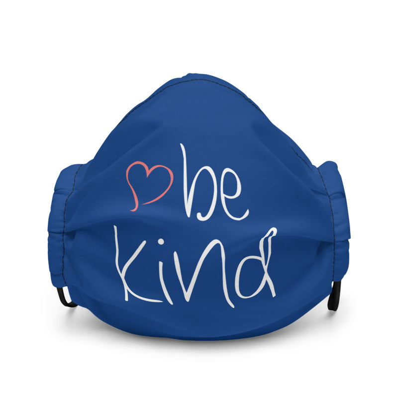 be kind Heart Non-Medical Premium Face Mask (Royal Blue) (NON-RETURNABLE)