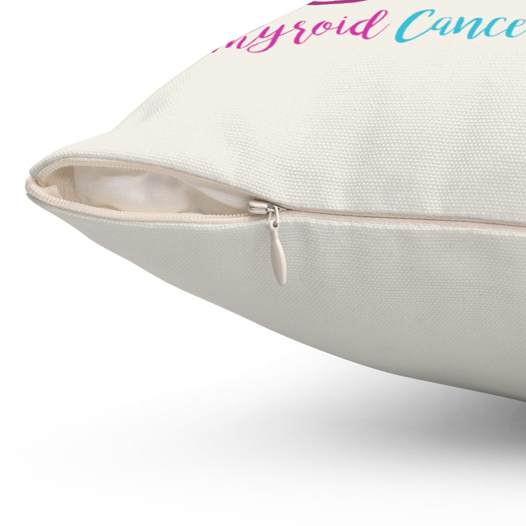 "Thyroid Cancer Awareness ""Natural"" Square Pillow (20 X 20)"