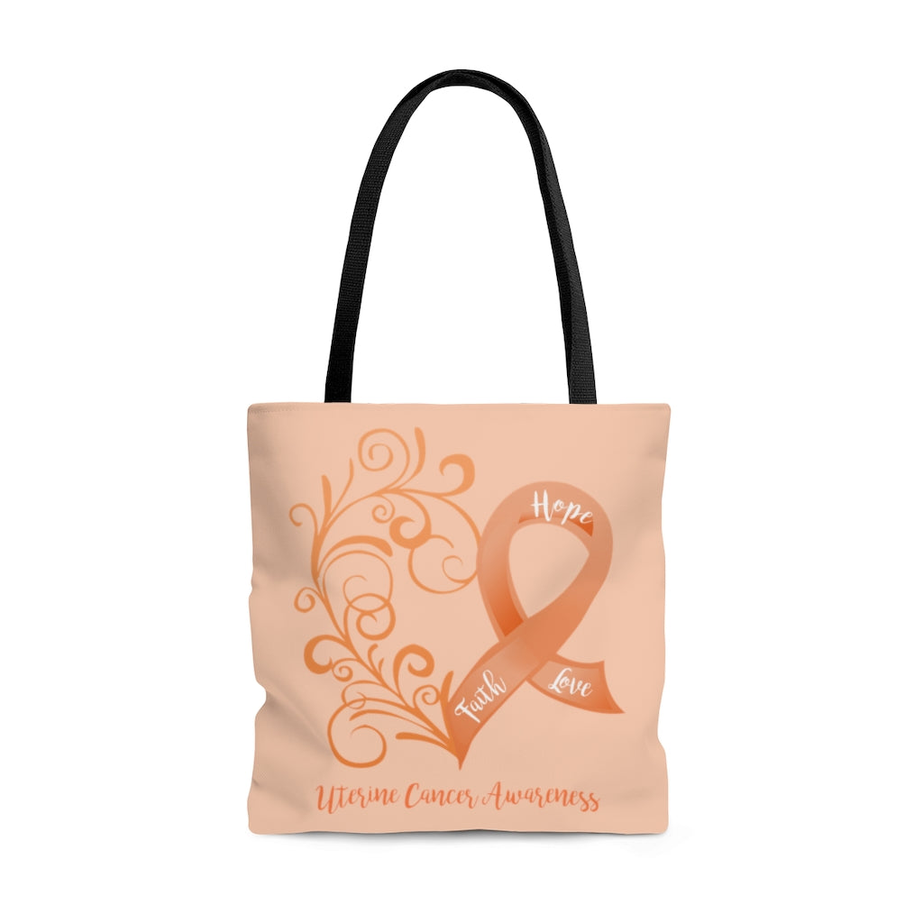 Uterine Cancer Awareness Large Tote Bag (Dual-Sided Design)