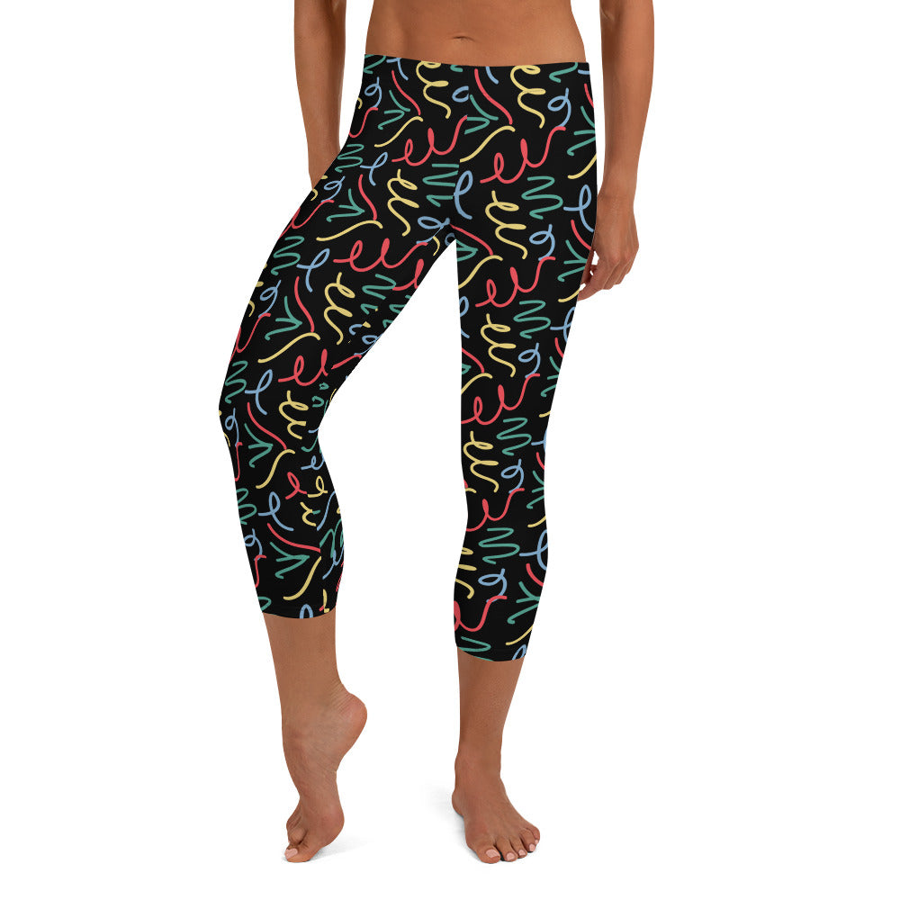 Freestyle Drawing Capri Leggings