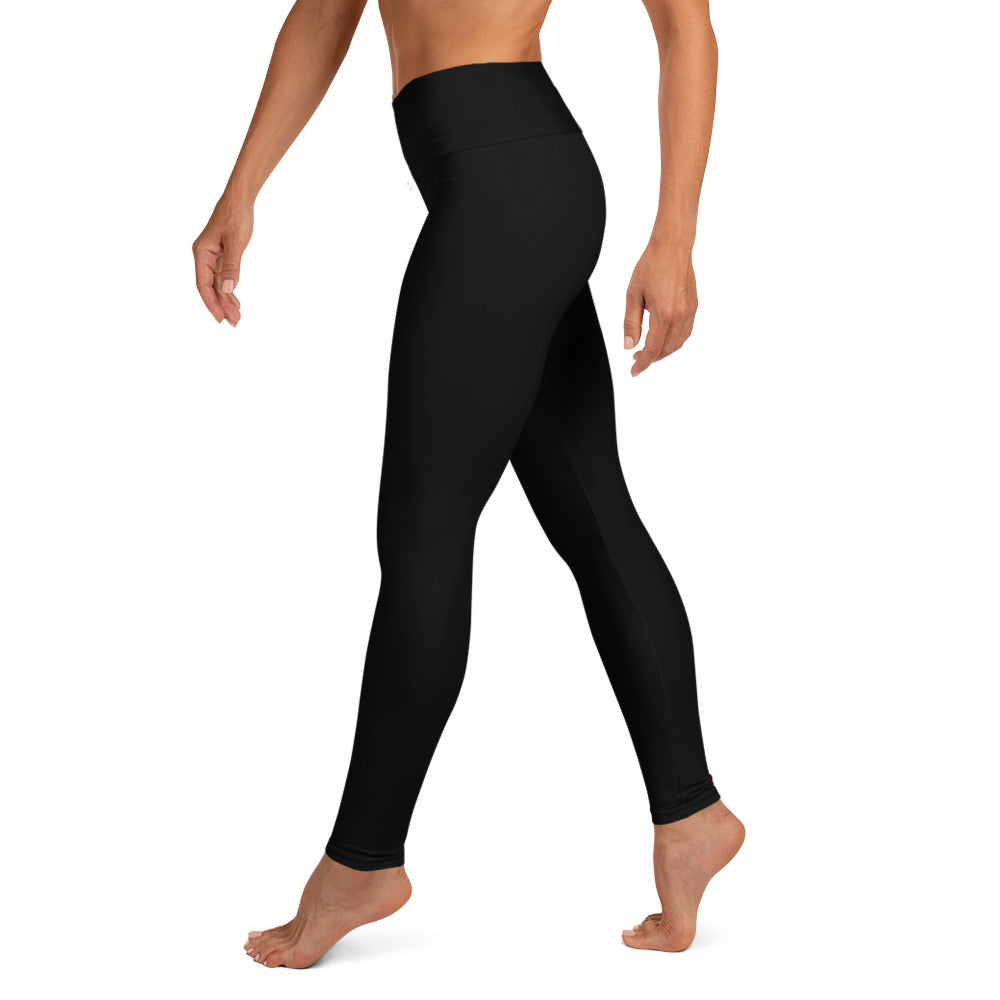 "Breast Cancer ""Survivor"" Yoga Full Length Leggings (Black)"