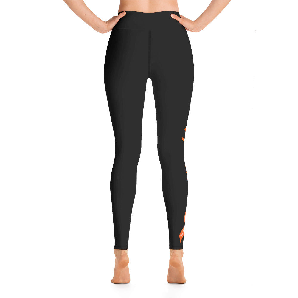 "Kidney Cancer ""Supporter"" Yoga Full Length Leggings (Black)"