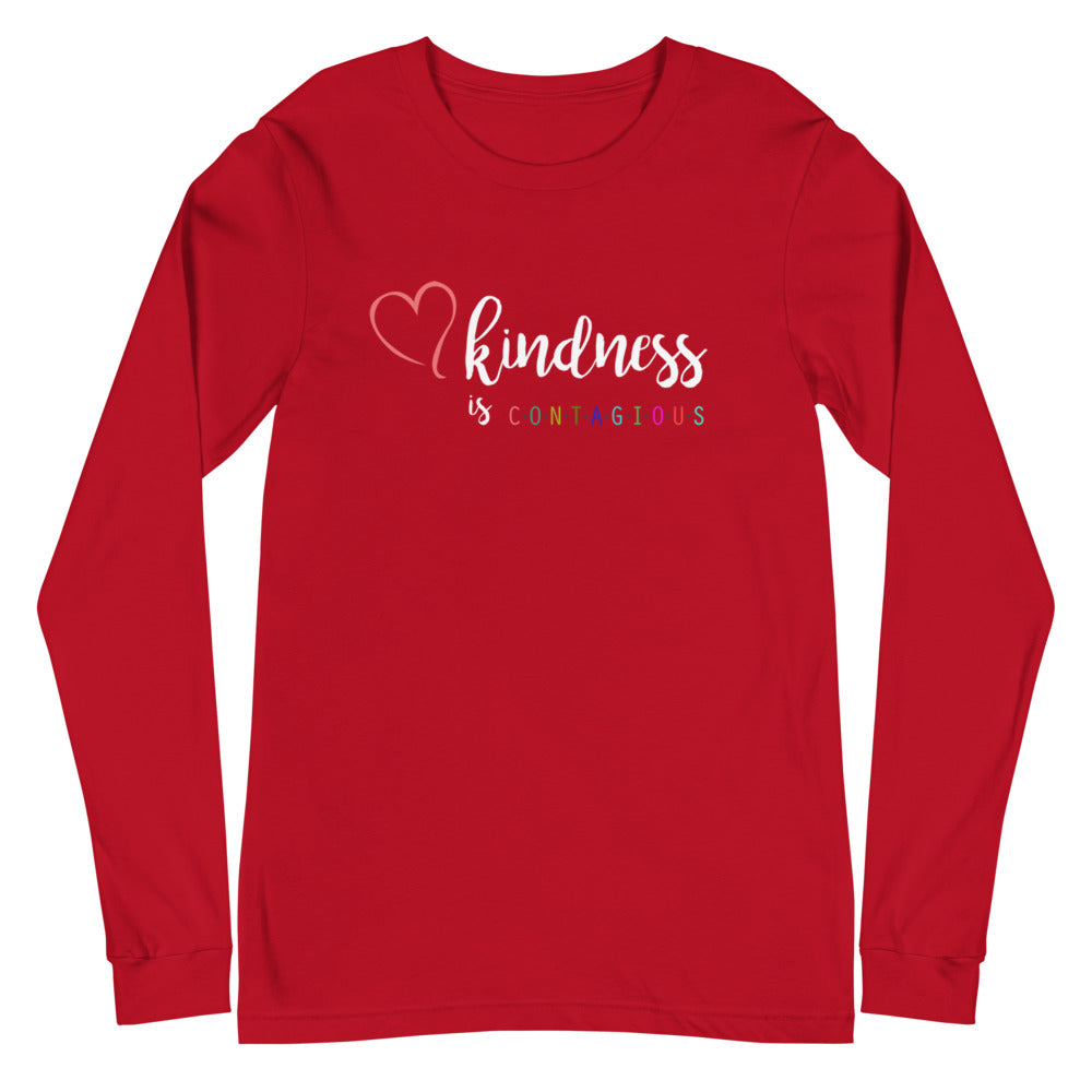 Kindness is CONTAGIOUS Multi-Colored Long Sleeve Tee
